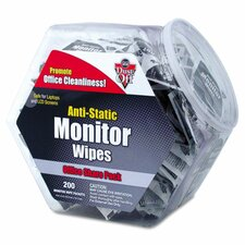 Antistatic Monitor Wipe Office Share Pack