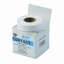 One-Line Pricemarker Labels, 7/16 x 13/16, White, 1200/Roll, 3 Rolls/Box (Set of 2)
