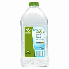 Green Works Glass/Surface Cleaner, 64oz Refill Bottle