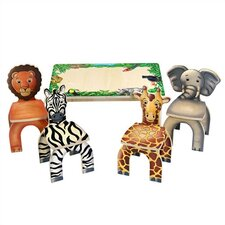 <strong>Anatex</strong> Safari Table & Animal Kid's Novelty Chairs