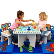 Tea Time Kids' 3 Piece Table and Chair Set
