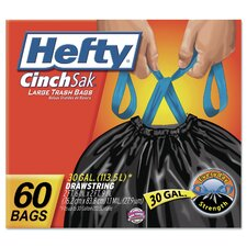 Cinch Sak Large Drawstring Trash Bags (Set of 180)