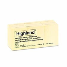 <strong>Highland™</strong> Self-Stick Pads, 12 Pads/Pack