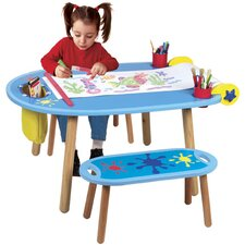 <strong>ALEX Toys</strong> Little Hands Kids' 3 Piece Table and Bench Set