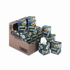 KLEENEX Three-Ply Lotion Facial Tissue in Pop-Up Cube, 80 per Box, 27 per Carton
