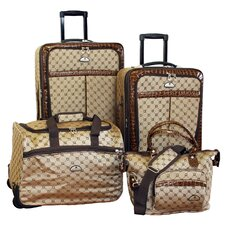 <strong>American Flyer</strong> Signature Expandable 4 Piece Luggage Set