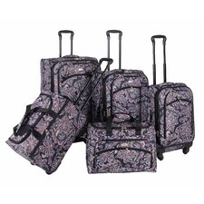 <strong>American Flyer</strong> Paisley 5 Piece Luggage Set
