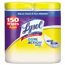 <strong>Lysol</strong> Dual Action Disinfecting Wipes (Set of 2)