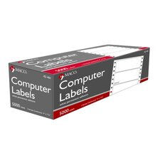 "Data Processing Labels,4""x1-7/16"",1 Across,5000/BX,White"