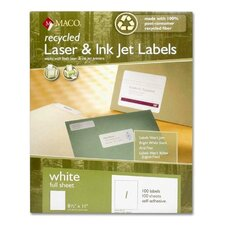 Recycled Laser and Inkjet Labels (Pack of 100)