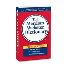 "<strong>Merriam-Webster Hardback</strong> Paperback Dictionary, 960 Pages, 4-3/16""x6-7/8"""