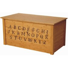 Bamboo Toy Box With Full Alphabet