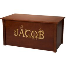 Dark Cherry Toy Box With Thematic Font