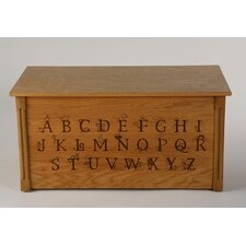 <strong>Dream Toy Box</strong> Wooden Alphabet Toy Box