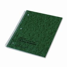 Subject Wirebound Notebook, College/Margin Rule, Ltr, WE, 80 Sheets/pad