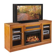 "Transitional 70"" TV Stand with Electric Fireplace"