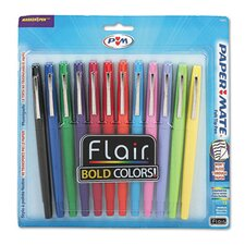 Flair Porous Medium Point Stick Pen (Set of 12)