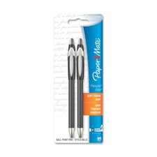 Flexgrip Elite Ballpoint Pen,Retractable,Med. Pt.,2/PK,BK