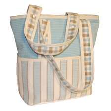 <strong>Hoohobbers</strong> Spa Blue Tote Diaper Bag