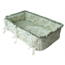 Personalized Cradle Linens in Etoile Green