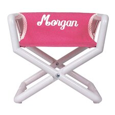 Personalized Junior Director Chair in Pink Canvas