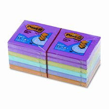 <strong>Post-it®</strong> Pop-Up Note Refills, 3 x 3, Five Ultra Colors, 12 100-Sheet Pads/pack