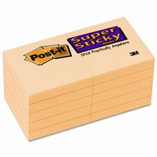 Super Sticky Note Pad, 10 Pack