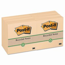 Greener Recycled Note Pad, 3 X 3, 12 100-Sheet Pads/Pack