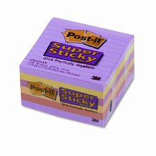 <strong>Post-it®</strong> Super Sticky Notes, 4 x 4, Five Colors, Six 90-Sheet Pads/pack
