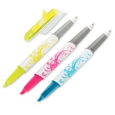 Writing Tools Flag Highlighter and Pen, 3 Pack