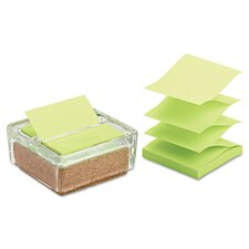 Greener Notes Cork Pop-Up Dispenser with Pad