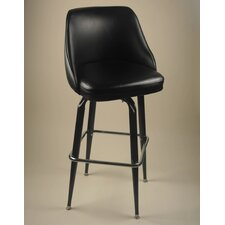 "Bucket 30"" Swivel Bar Stool with Cushion"