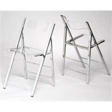 Lucite Folding Side Chair