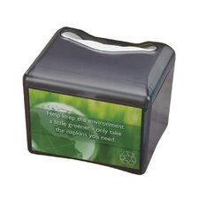 Venue Napkin Dispenser with Advertising Inset in Black