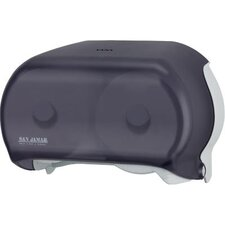 <strong>San Jamar</strong> Versa Twin Standard Tissue Dispenser in Black Pearl