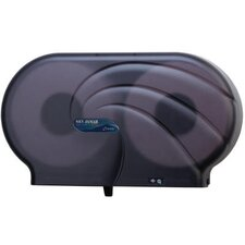 <strong>San Jamar</strong> Oceans Twin JBT Toilet Tissue Dispenser in Black Pearl
