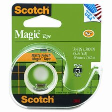 "<strong>3M</strong> Magic Office Tape with Refillable Dispenser, 3/4"" x 8 Yards, Clear"