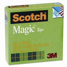 "Magic Office Tape, 1/2"" x 36 Yards, 1"" Core, Clear"