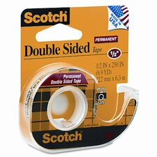 "665 Double-Sided Office Tape with Hand Dispenser, 1/2"" X 250"""