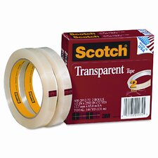 "Transparent Tape 600-2P12-72, .5 X 2592, 3"" core, transparent, 2 Rls"