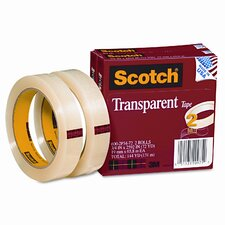 "Transparent Tape 600-2P34-72, .75 X 2592, 3"" core, transparent, 2 Rls"