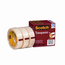 "Transparent Tape 600-72-3PK, 1 X 2592, 3"" core, transparent, 3 Rls"