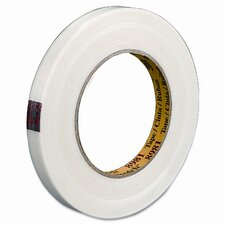 "Premium Grade Filament Tape, 1"" x 60 Yards, 3"" Core, Clear"