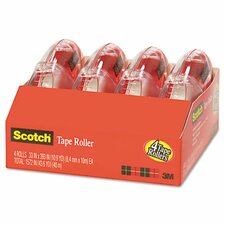 Adhesive Tape Roller Value Pack, 4 Rollers/Pack