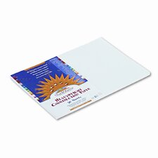 SunWorks Construction Paper, Heavyweight, 12 x 18, White, 50 Sheets