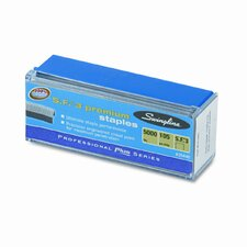 S.F. 3 Premium Chisel Point Half Strip Staples, 5000/Box
