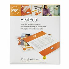GBC HeatSeal Letter Laminating Pouch (Pack of 50)