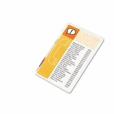 GBC HeatSeal Index Card Laminating Pouch (Pack of 25)
