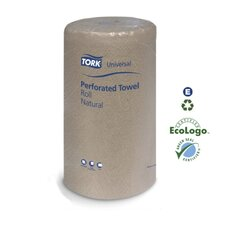 Universal Perforated Towel Roll 2-Ply in White