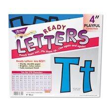 "Ready Letters Playful Combo Set, Black, 4""h, 216/Set"